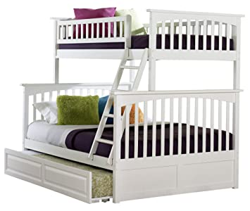Columbia Bunk Bed With Trundle Twin Over Full White