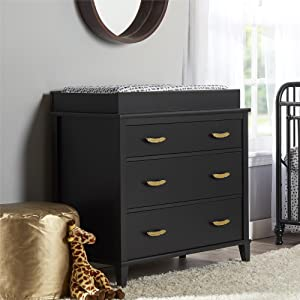 Little Seeds Monarch Hill Hawken Changing Table Topper, Black