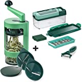 genius nicer dicer chef deluxe set 34 pieces fruit and vegetable chopper as seen on tv. Black Bedroom Furniture Sets. Home Design Ideas