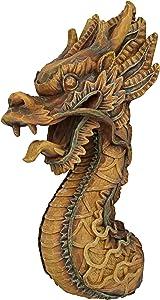 Design Toscano NG33987 The Fire Dragon Wall Sculpture,Single
