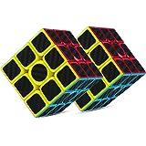 PovKeever Rubix Cube 3-D Puzzle Cube 3x3x3 Velocità liscia Puzzle magico cubo e facile tornitura, Super Durable per il gioco di allenamento del cervello per il regalo di natale (2PC)