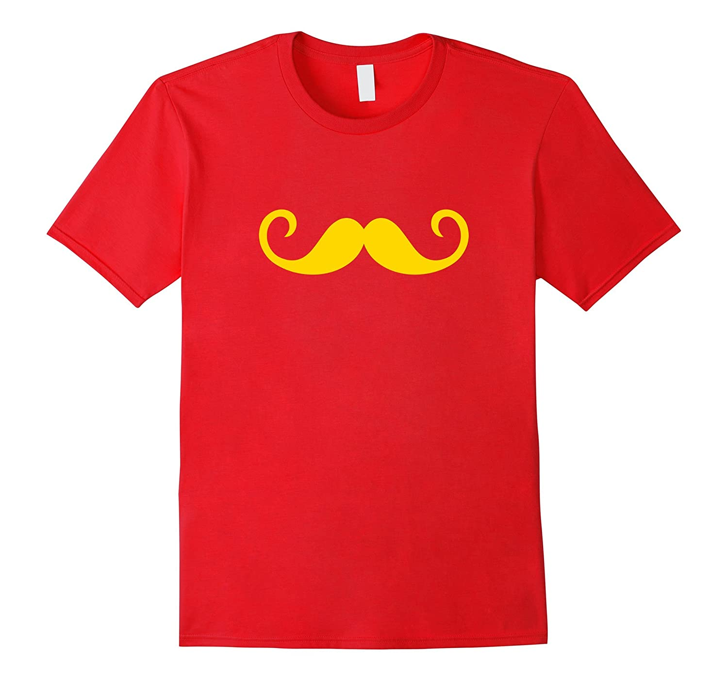 Curly Gold Mustache T-Shirt-TJ