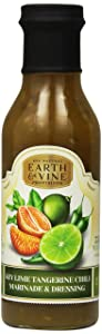 Earth & Vine Provisions Key Lime Tangerine Chili Marinade and Dipping Sauce, 12 Ounce