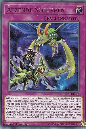 LED2-DE043 Auflage Common Deutsch Regenbogendrache Yu-Gi-Oh 1