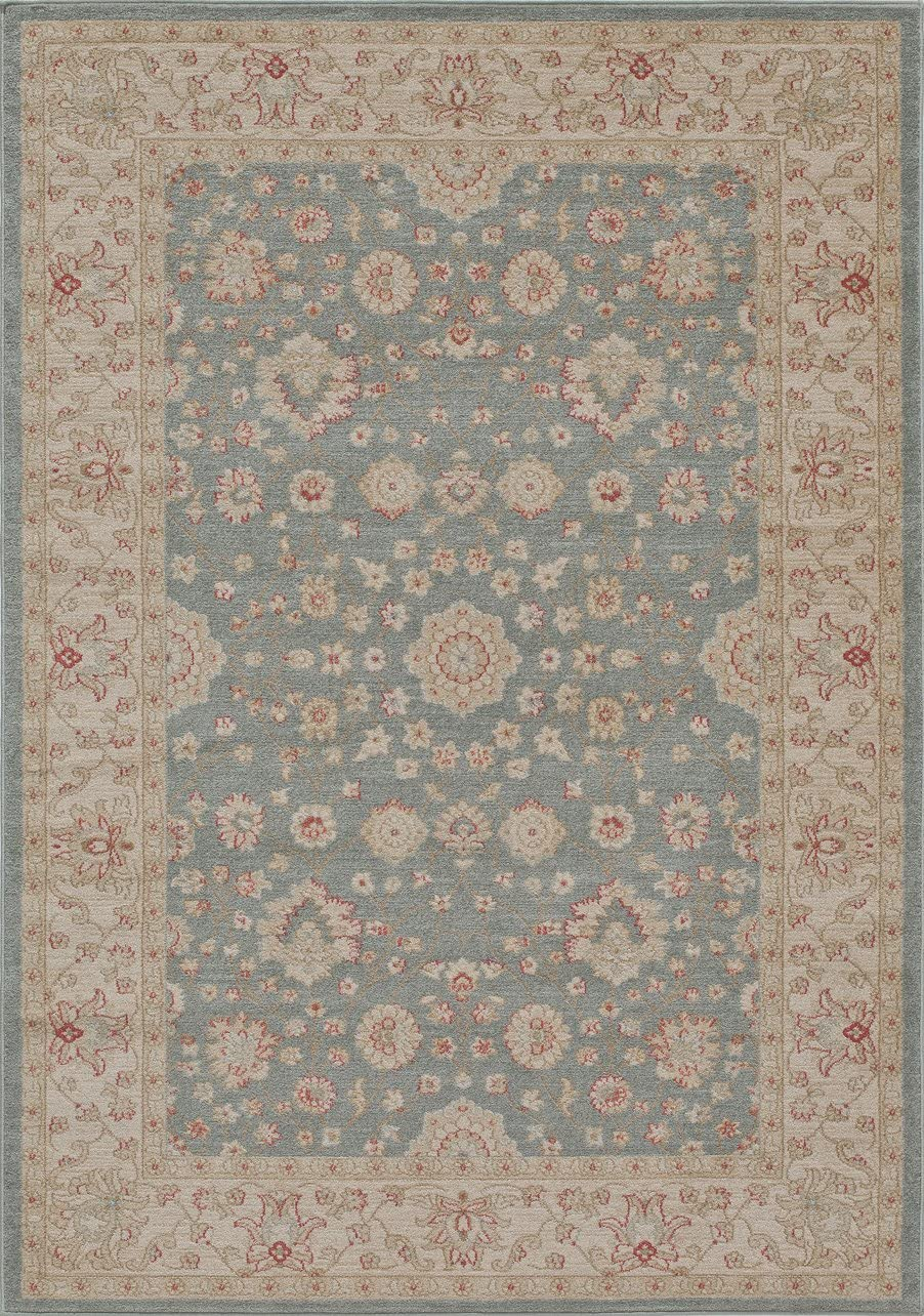 Momeni Ziegler 7 10 X 9 10 Traditional Rug in Blue