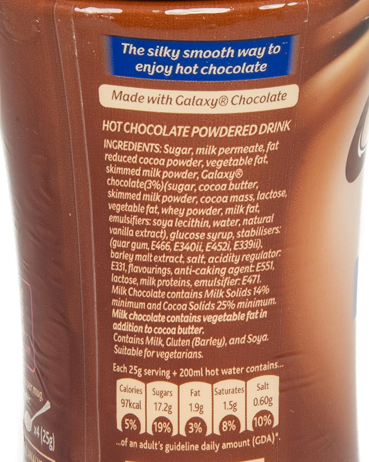 Amazon.com : Galaxy Instant Hot Chocolate Drink 240g : Hot Cocoa ...