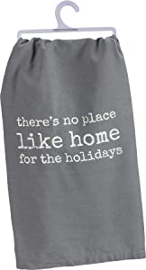 Primitives by Kathy Rustic Dish Towel, 28 x 28-Inches, No Place Like Home for The Holidays