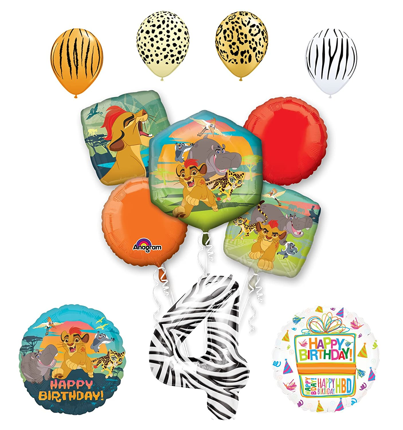 Amazon Lion Guard Party Supplies 4th Birthday Balloon Bouquet Decorations Toys Games