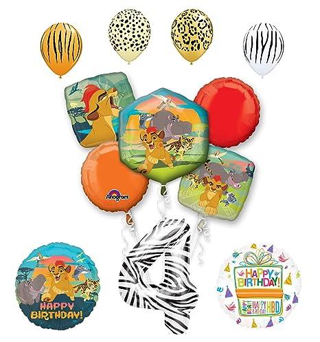 Amazon Lion Guard Party Supplies 4th Birthday Balloon Bouquet