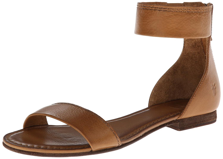 FRYE Women's Carson Ankle Zip Gladiator Sandal B00EZCQ6UM 6 B(M) US|Camel-72107