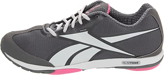 9afe75814fef2e Reebok Slimtone Womens Gray Mesh Walking Shoes Size 6 UK  Amazon.co.uk   Shoes   Bags