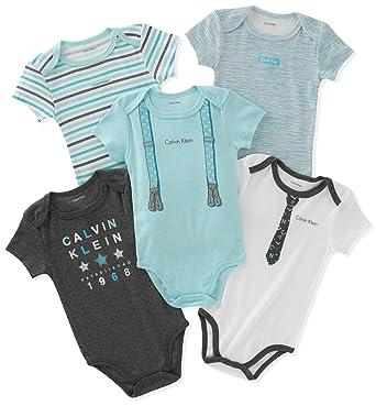 264088287 Amazon.com: Calvin Klein Baby Boys' Assorted Short Sleeve Bodysuit ...