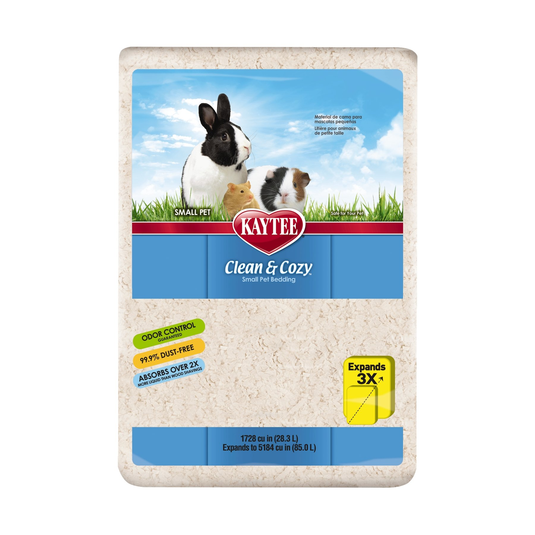 Kaytee Clean & Cozy White Small Animal Bedding, 85L (size may vary) by Kaytee