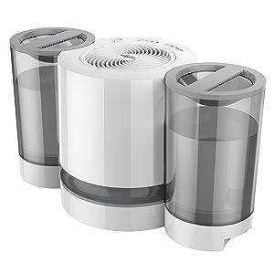 Vornado EV200 Evaporative Whole Room Humidifier with SimpleTank, 1.5 Gallon Capacity, White
