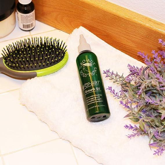 gro-aut pelo aceite de crecimiento 4oz reparación y proteger generar un rápido crecimiento pelo 120 ml para todo tipo de cabello, color treated, ...
