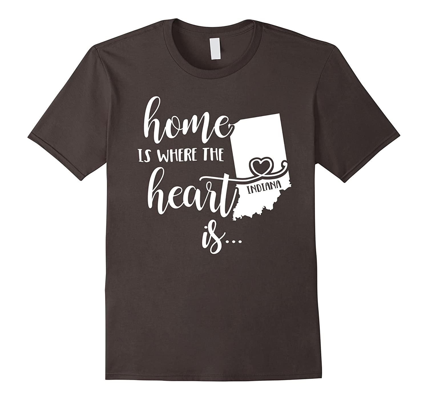 Indiana Home T-Shirt - Home is Where the Heart Is-CD