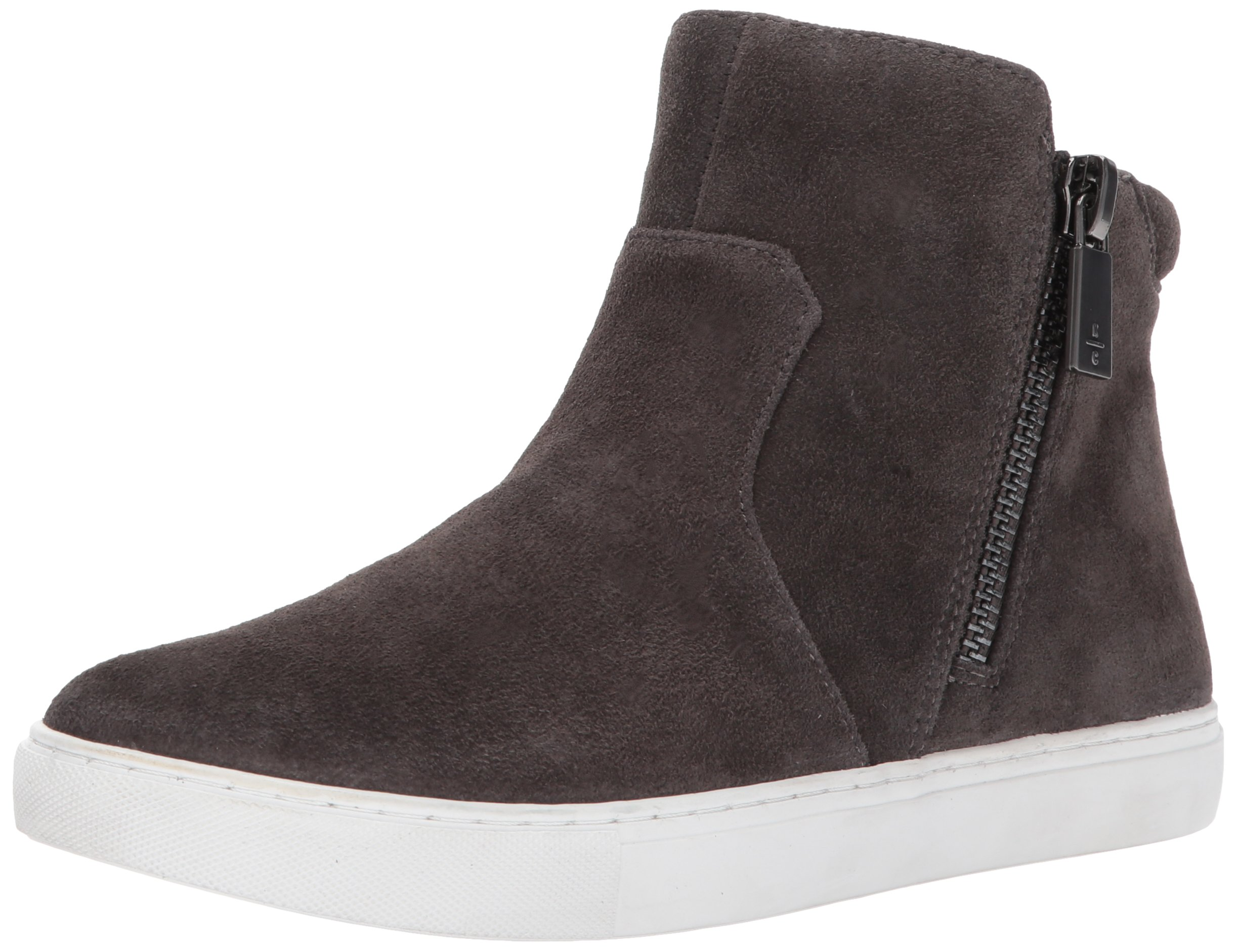 Kenneth Cole New York Women's Kiera High Top Double Zip Suede Fashion Sneaker, Asphault, 8 M US