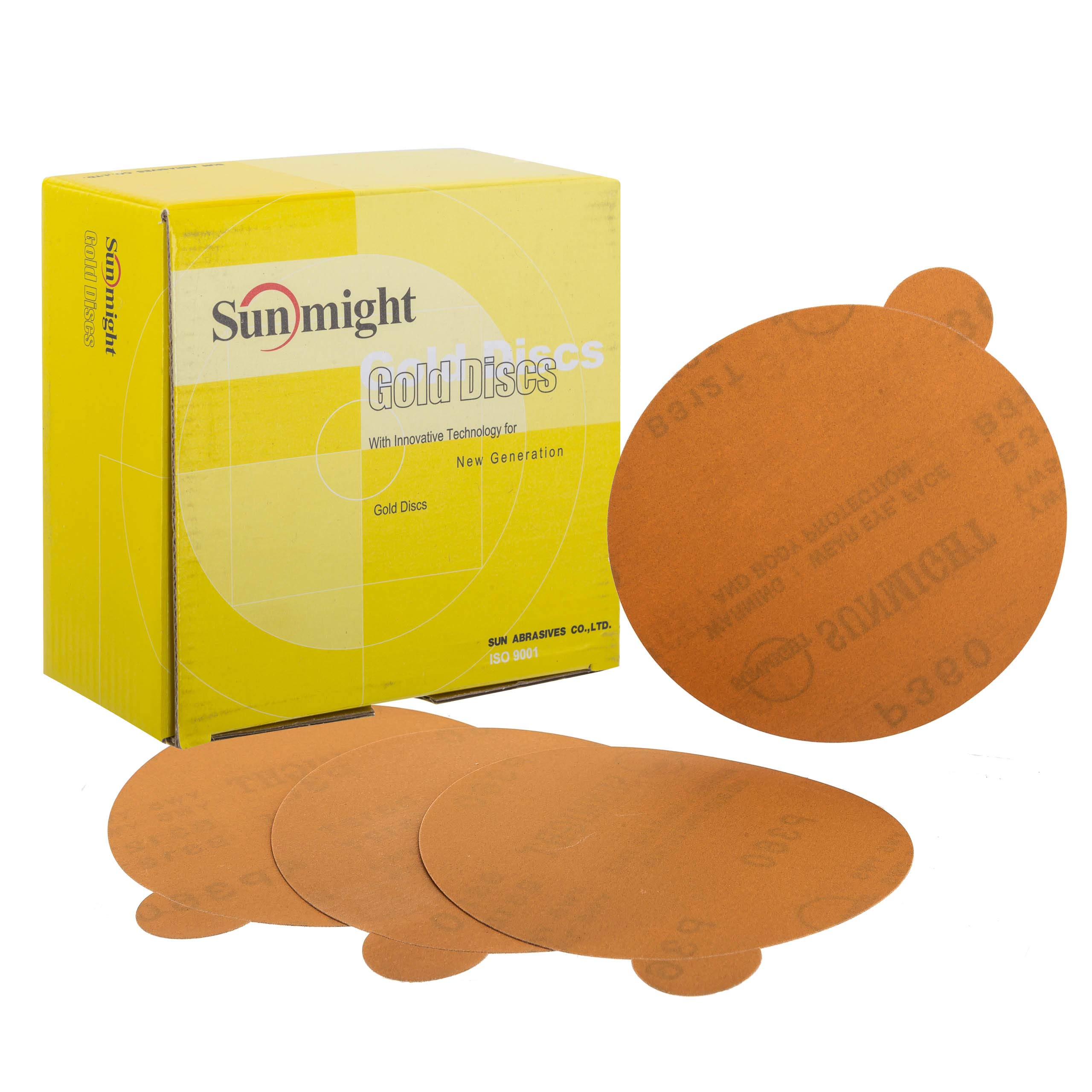 Sunmight 02308 1 Pack 6'' No Hole PSA Disc (Gold Grit 120)