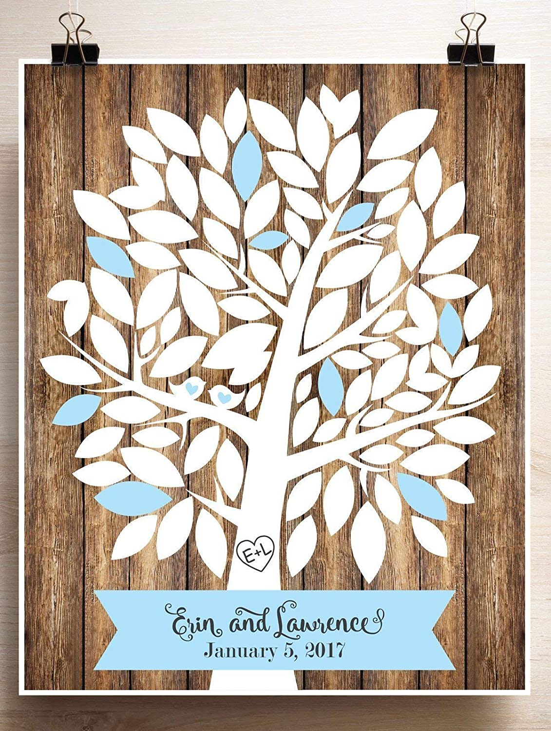 Wedding Guest Book Tree Canvas Sign Print