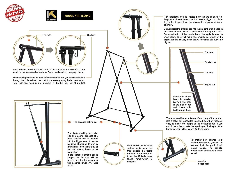 Amazon.com : KT Dedicated Stand Frame for Aerial Yoga Model ...