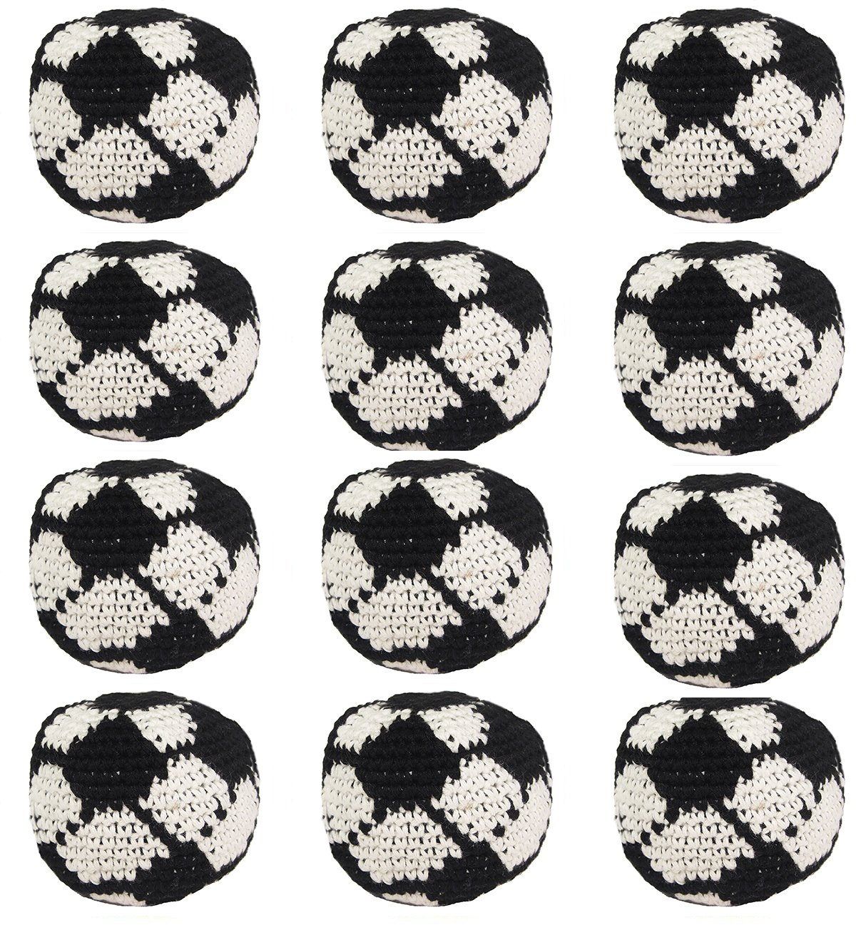 Set of 12 Hacky Sacks - Soccer Ball by Turtle Island Imports
