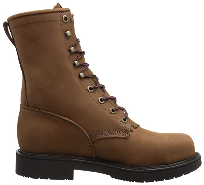 Amazon.com | Justin Original Work Mens Aged Bark Double Comfort Lace Up Steel Toe Workboot | Industrial & Construction Boots