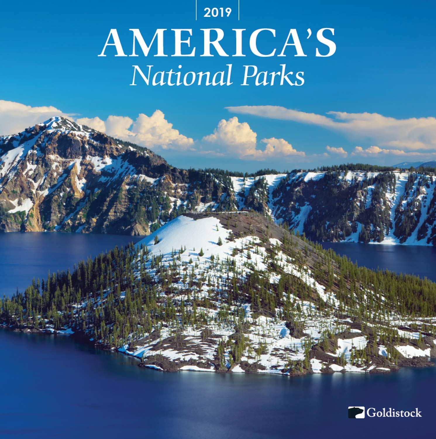 Goldistock -''National Parks'' Eco-Friendly 2019 Large Wall Calendar - 12'' x 24'' (Open) - Thick & Sturdy Paper - Featuring Breathtaking Images of Our National Parks