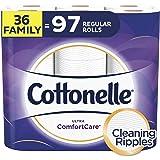 Cottonelle Ultra ComfortCare Toilet Paper, Soft Biodegradable Bath Tissue, Septic-Safe, 36 Family Rolls