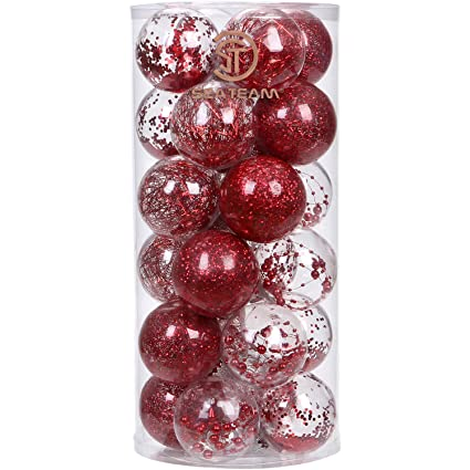 sea team 70mm276 shatterproof clear plastic christmas ball ornaments decorative xmas balls baubles - Christmas Ball Decorations