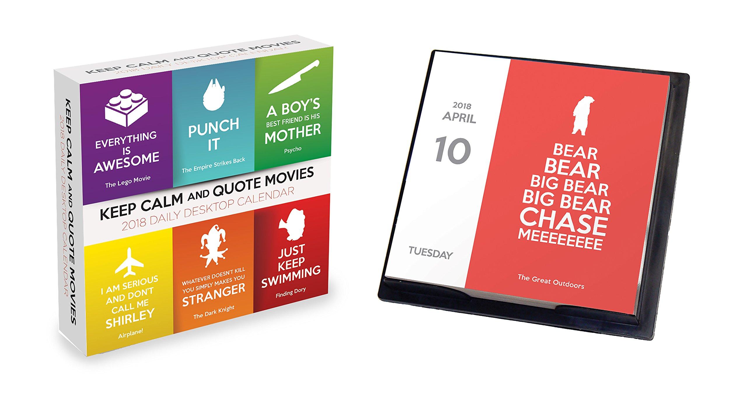 Calendar Design Quote : Keep calm and quote movies daily desktop calendar tf