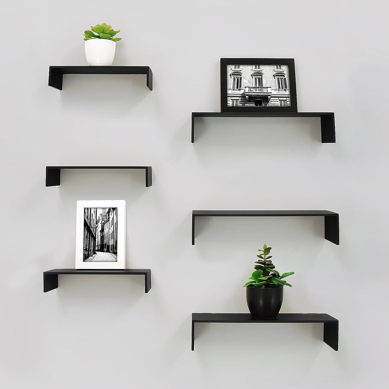 d074d234fa Amazon.com: Kieragrace Kiera Grace Extense Wall Shelves, 14 10 by 4-Inch,  Set of 6, Black: Home & Kitchen