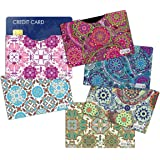 (6) RFID Blocking Sleeves Credit Card Holder, Vera Bradley Inspired to protect your identity from theft (Variety 2)