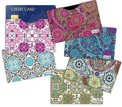 18e07615d5 Amazon.com   (6) RFID Blocking Sleeves Credit Card Holder