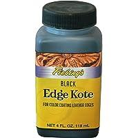 Fiebing's Edge Kote, 4 Oz. - Color Coats Leather Edges - Black