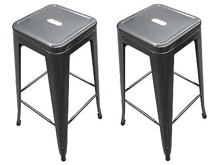 Tremendous Titan 30 Modern Metal Stacking Counter Bar Stool Set Of 2 Gunmetal Forskolin Free Trial Chair Design Images Forskolin Free Trialorg