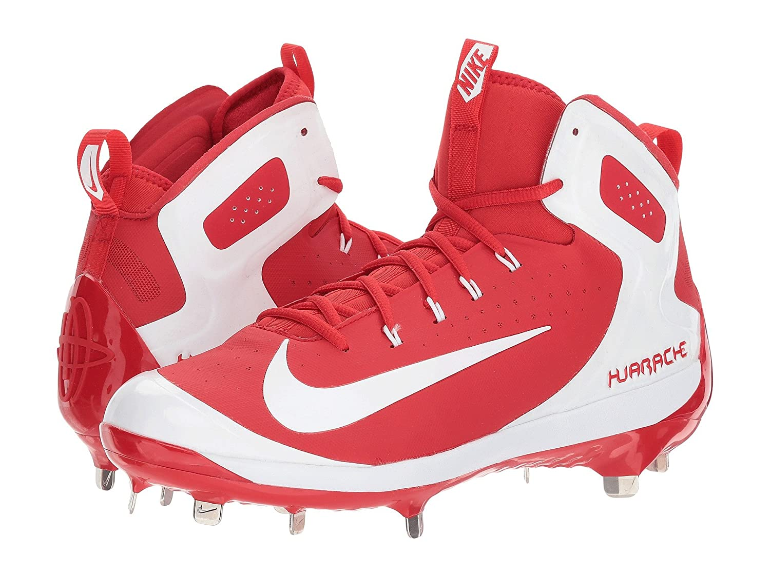 (ナイキ) NIKE メンズ野球ベースボールシューズ靴 Alpha Huarache Elite University Red/White/White 9 (27cm) D Medium B078Q27BF9
