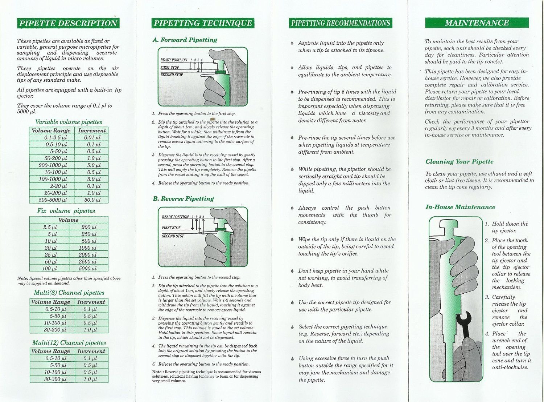 Drops Fixed Volume Micropette Fixed Volume Micro Pipette 0.5/µl