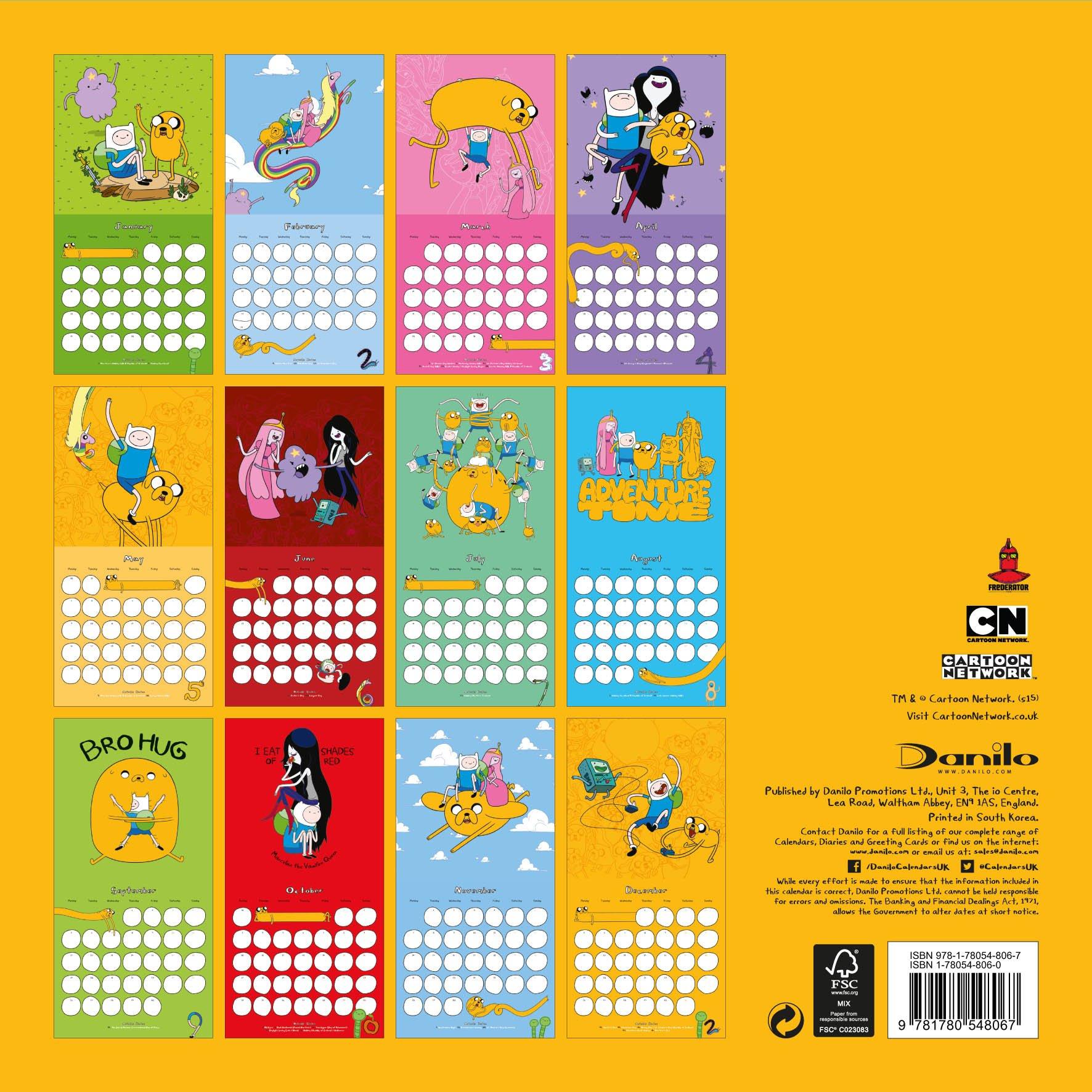 The Official Adventure Time 2016 Square Calendar: 9781780548067 ...