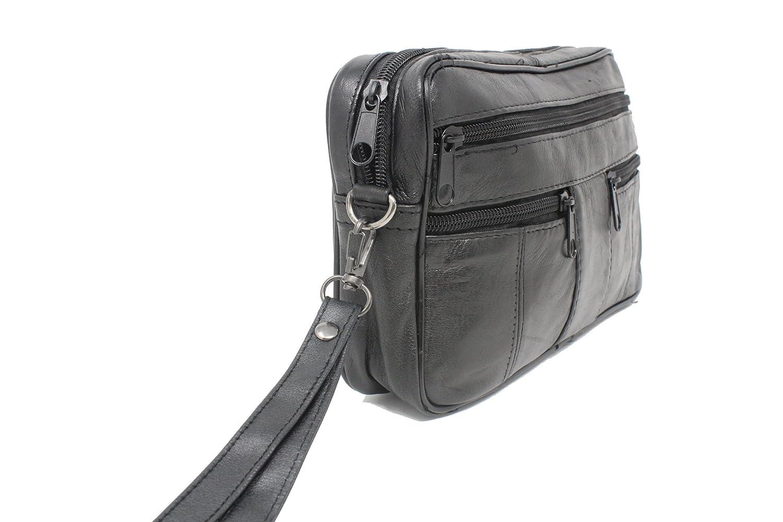 sacoche cuir homme vide poches Fr/éd/éric Johns/® Sacoche homme port/é main pochette cuir sac port/é main cuir noir