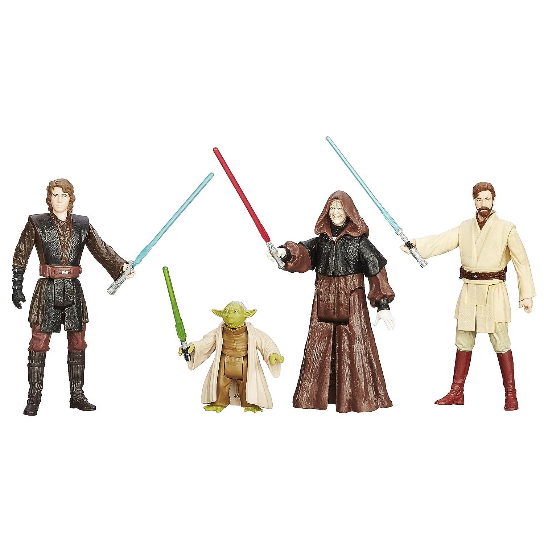 Hasbro B0513EU4 - Star Wars Saga Collection, (6 Sets mit je vier 3.75 Zoll Figuren)(Sortiert)