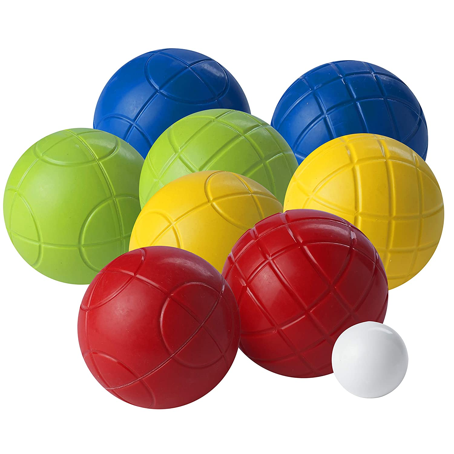 Franklin Sports Bocce Ball Set — 8 All Weather 90mm Soft Bocce Balls and 1 Pallino — Beach, Backyard Lawn or Outdoor Party Game — Professional, American, and Starter Set Options