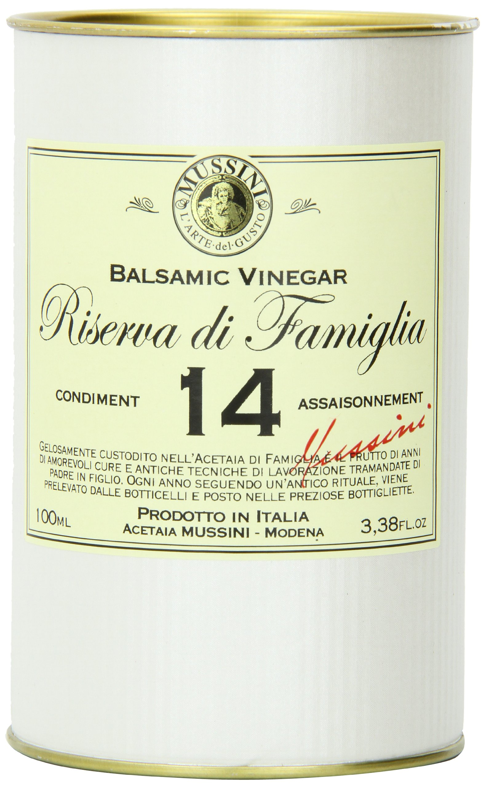 """Italian 14 year""""riserva di famiglia"""" balsamic vinegar, 3. 4 ounces 2 save money with pack sizes made in small batches produced by mussini in italy"""