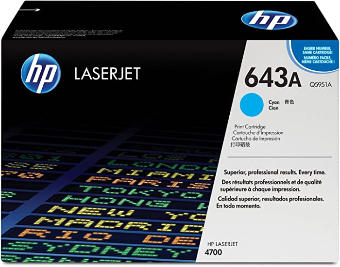 HP 643A | Q5951A | Toner Cartridge | Cyan