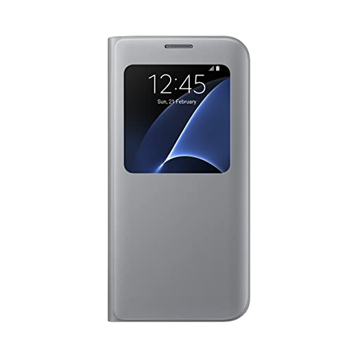15 opinioni per Samsung EF-CG935PSEGWW, Custodia S-View per Galaxy S7 Edge, argento