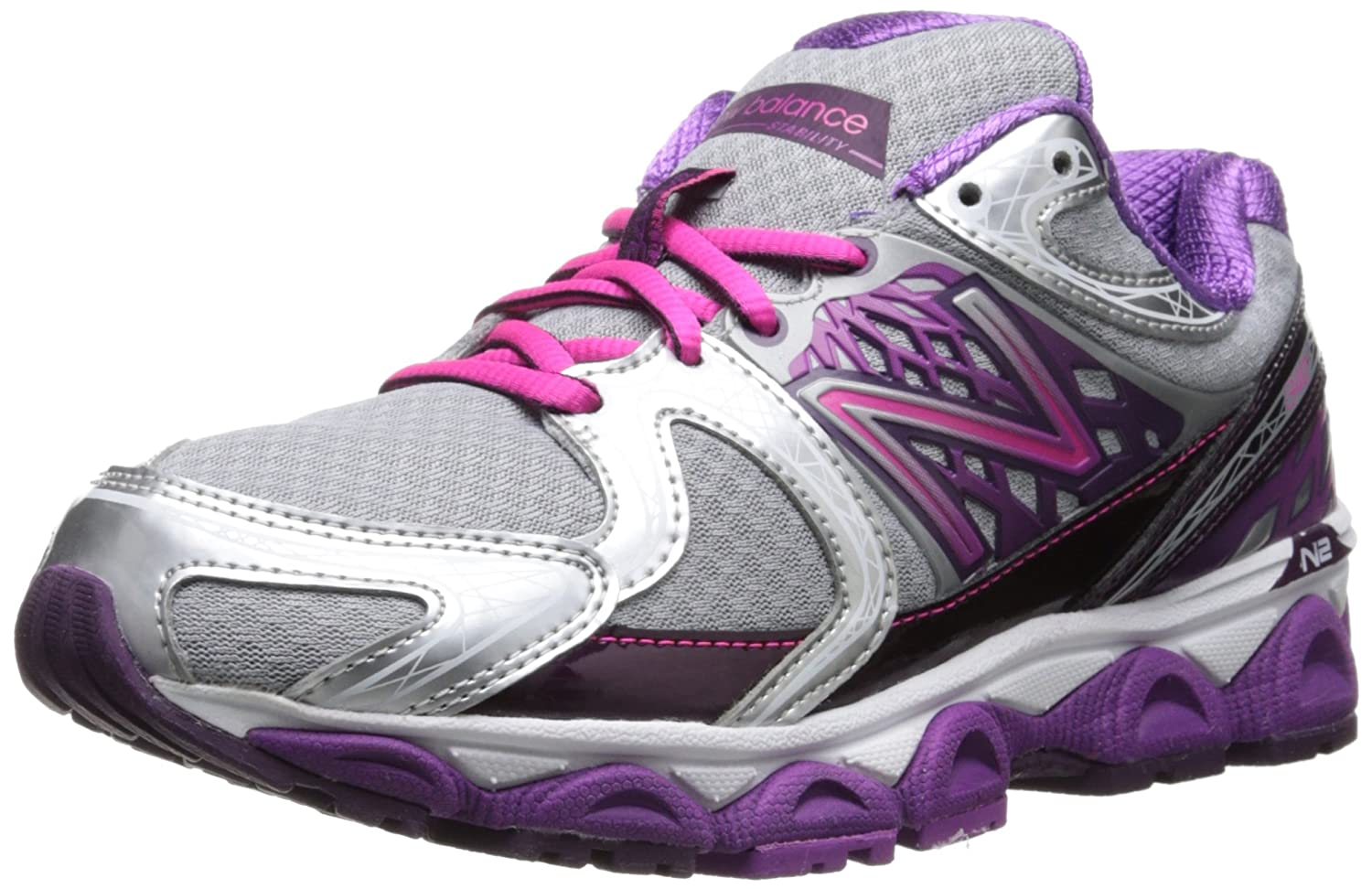 New Balance Women's W1340v2 Optimum Control Running Shoe B00GYOW482 10.5 B(M) US|Purple/Silver