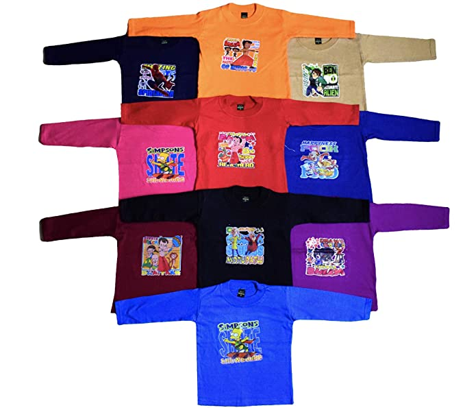 2f72c7073b6f ISAKAA Baby 5 and 10 Cotton Full Sleeve Tshirts - Radha Design  Amazon.in   Clothing   Accessories