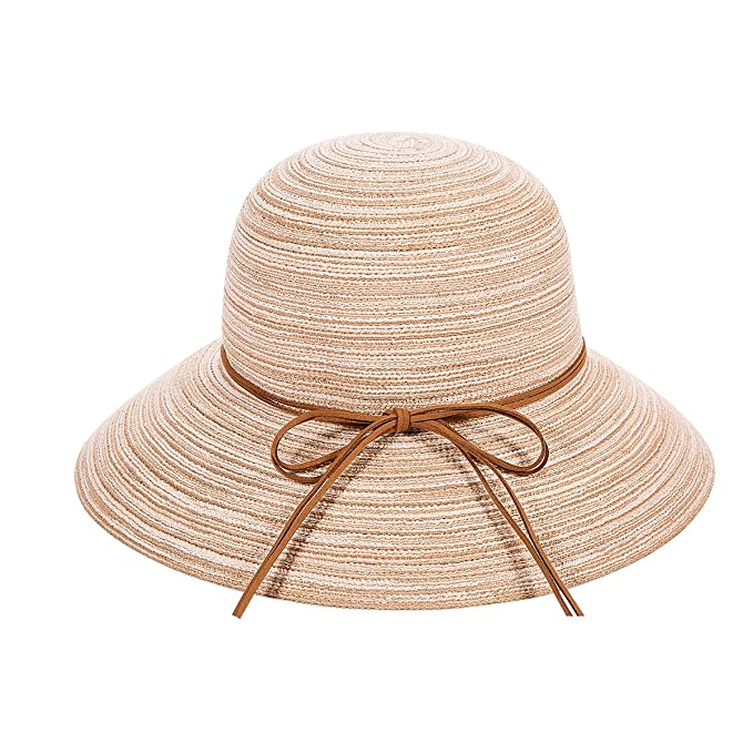 1570fdc7 Women Summer Beach Sun Hats – REDNITY Floppy Foldable Travel Packable UV  Protection Brim Straw Cap