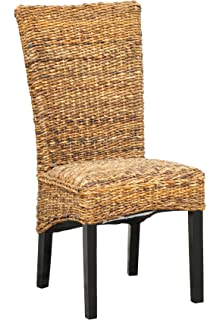 AmazoncomBirdRock Home Abaca and Seagrass Side Chair Set2