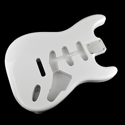 Ártico blanco Stratocaster Guitarra eléctrica cuerpo – 2 piezas American, madera de aliso