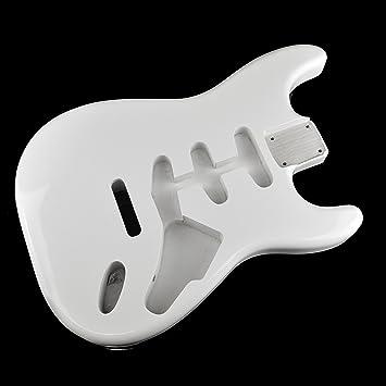 Ártico blanco Stratocaster Guitarra eléctrica cuerpo - 2 piezas American, madera de aliso: Amazon.es: Instrumentos musicales